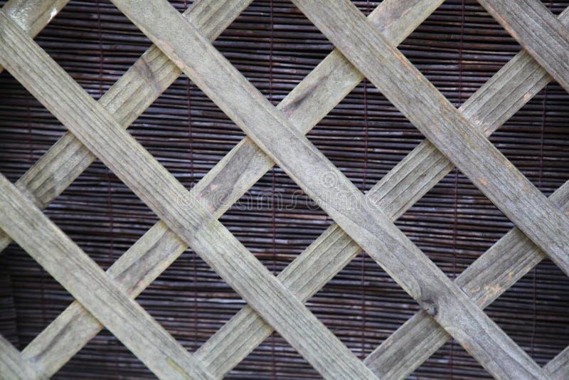 Enrejado de madera foto de archivo libre de regalías