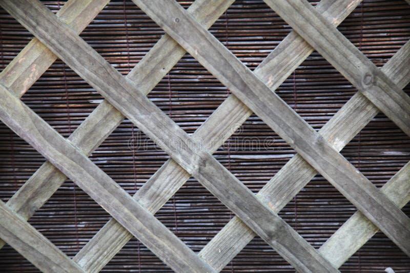Enrejado de madera imagenes de archivo