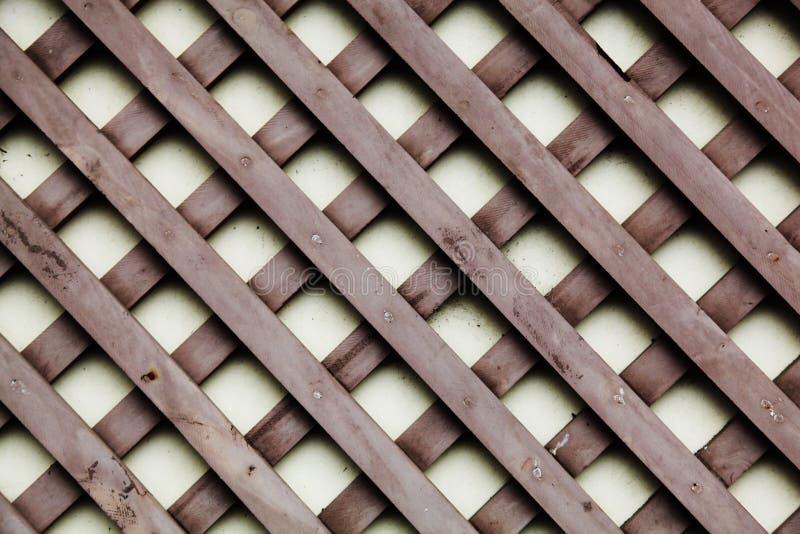 Enrejado de madera en marrón fotografía de archivo