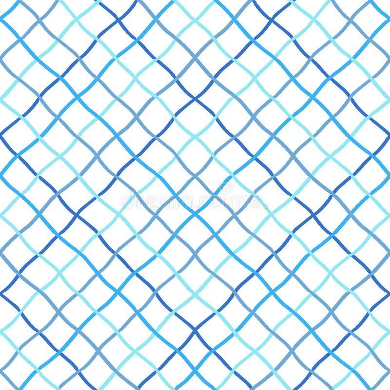 Enrejado deformado, torcido, desigual, modelo inconsútil de la red de pesca ilustración del vector