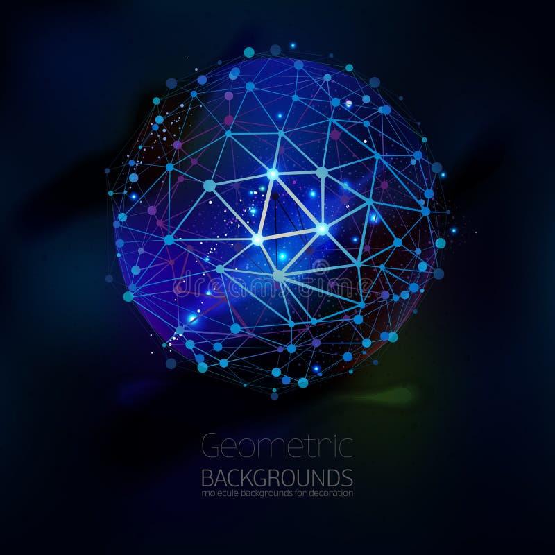 Enrejado geométrico abstracto, el alcance de moléculas libre illustration