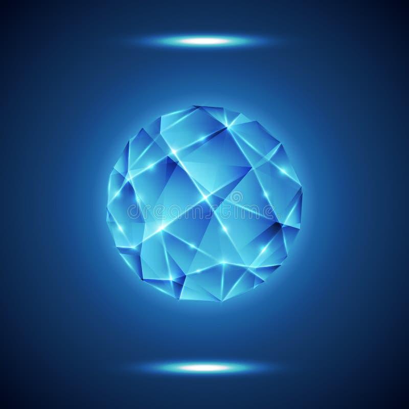 Enrejado geométrico abstracto, fondo de la tecnología libre illustration
