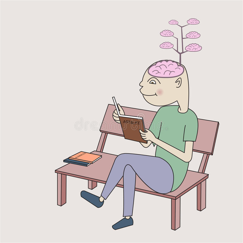 Free Enrich Brain By Reading Book Stock Image - 33472441
