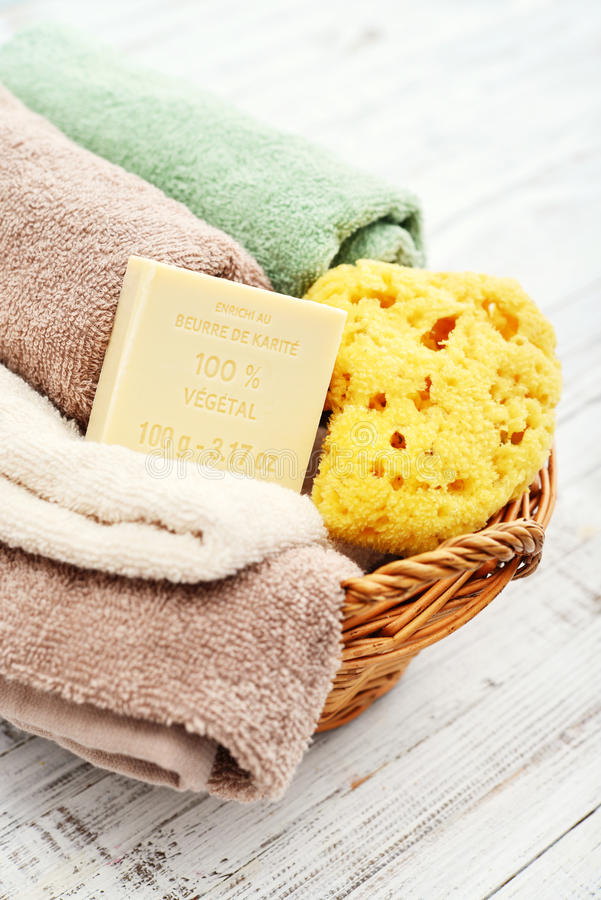 Free Enriched With Shea Butter, 100 Vegetal Soap Royalty Free Stock Photo - 91939205