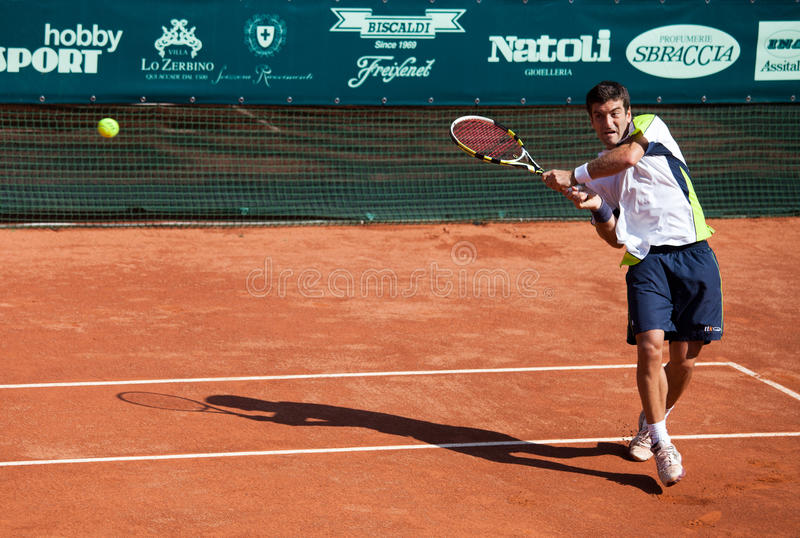 Enrico Burzi playing at ATP Genoa Open
