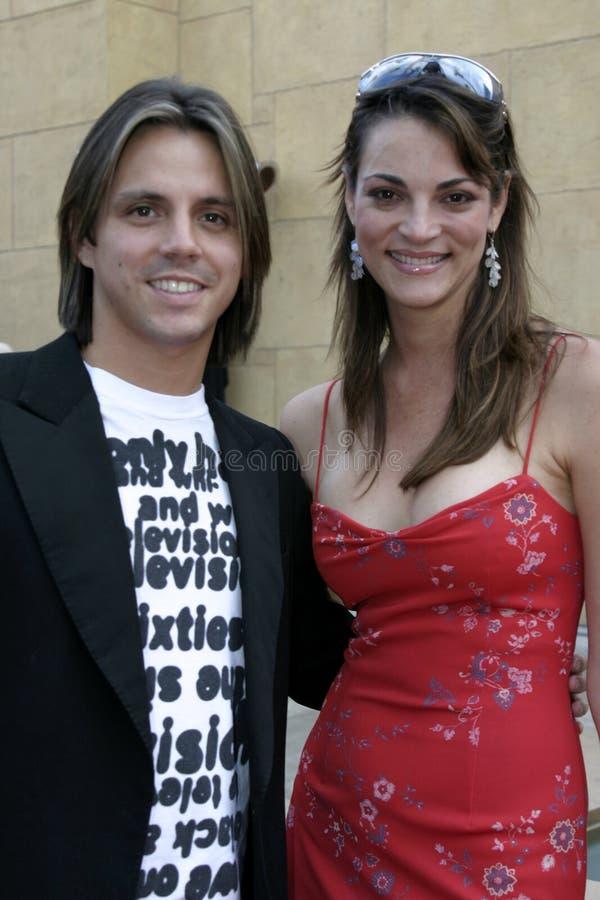 Enrique Sapene en Carolina Bacardi royalty-vrije stock foto's