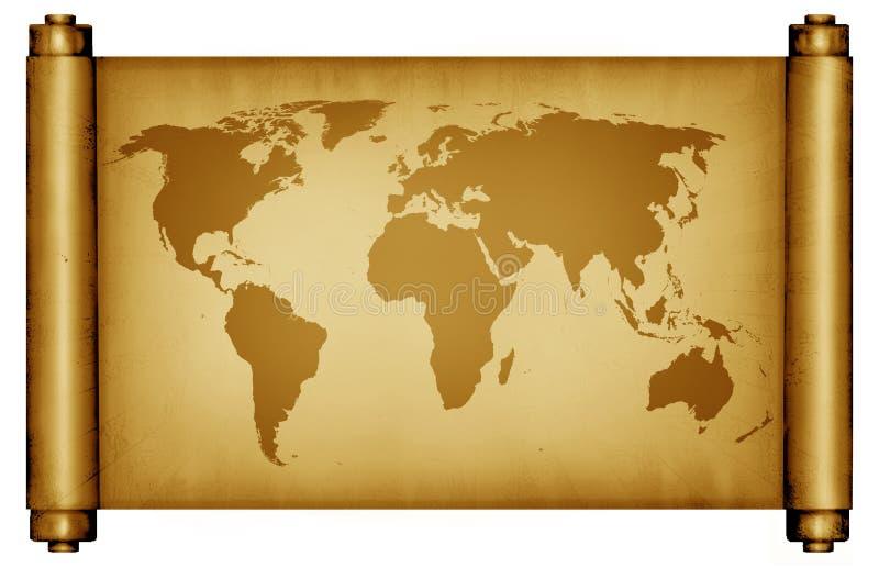 Enrole o mapa ilustração royalty free