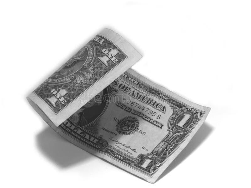 Enrollamiento del dólar de plata foto de archivo libre de regalías