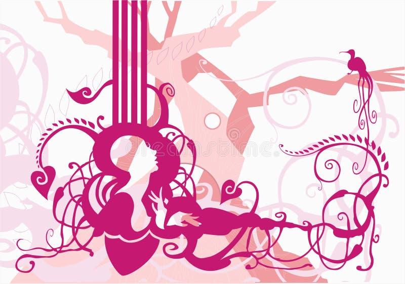 Enrollamientos florales ilustración del vector