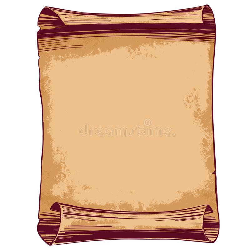 Enrolle el bosquejo dibujado mano del ejemplo del vector del marco del vintage ilustración del vector