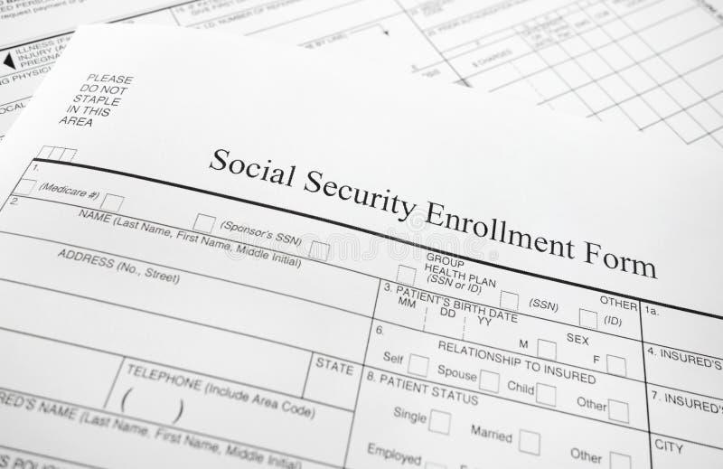 Enrollment Form Stock Image Image Of Insurance Healthcare
