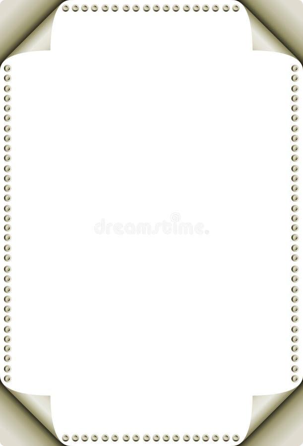 Enroulement de page illustration stock