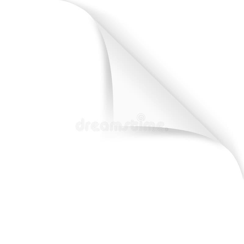 Enroulement de page illustration de vecteur