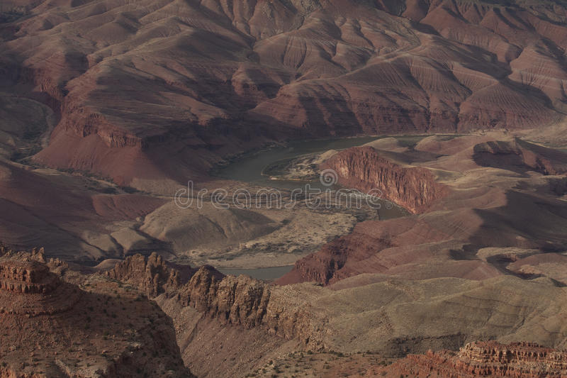 Enroulement le fleuve Colorado Grand Canyon AZ images stock