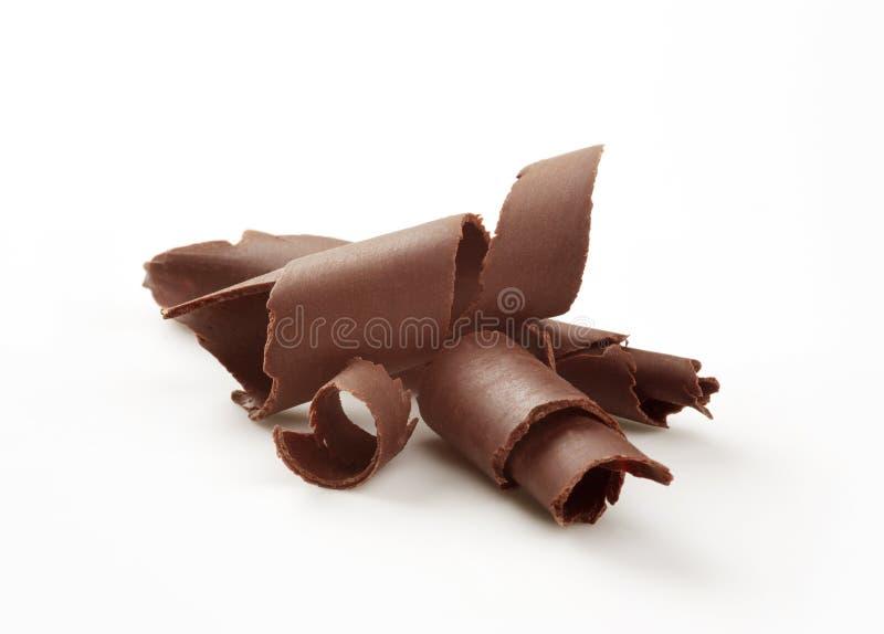 Enroulements de chocolat photographie stock