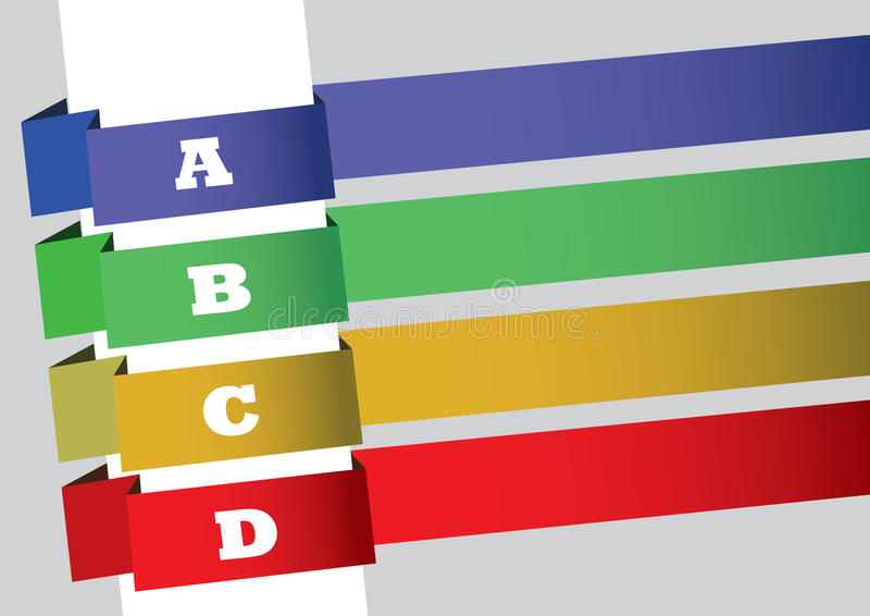 Enroulez autour de la conception de disposition de bannières illustration libre de droits