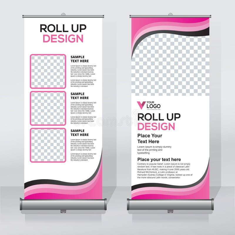 Enroulez le calibre de conception de bannière, soustrayez le fond, tirez vers le haut la conception, x-bannière moderne, taille d illustration de vecteur