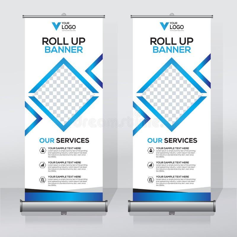 Enroulez le calibre de conception de bannière, verticale, soustrayez le fond, tirez vers le haut la conception, x-bannière modern illustration de vecteur