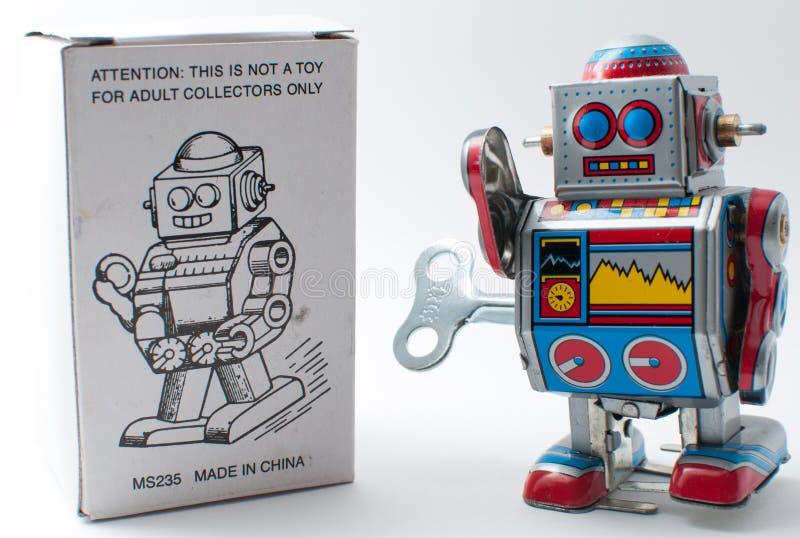 Enroulez le robot image libre de droits