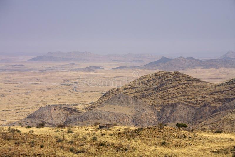 Enroute da Windhoek al Solitaire immagine stock
