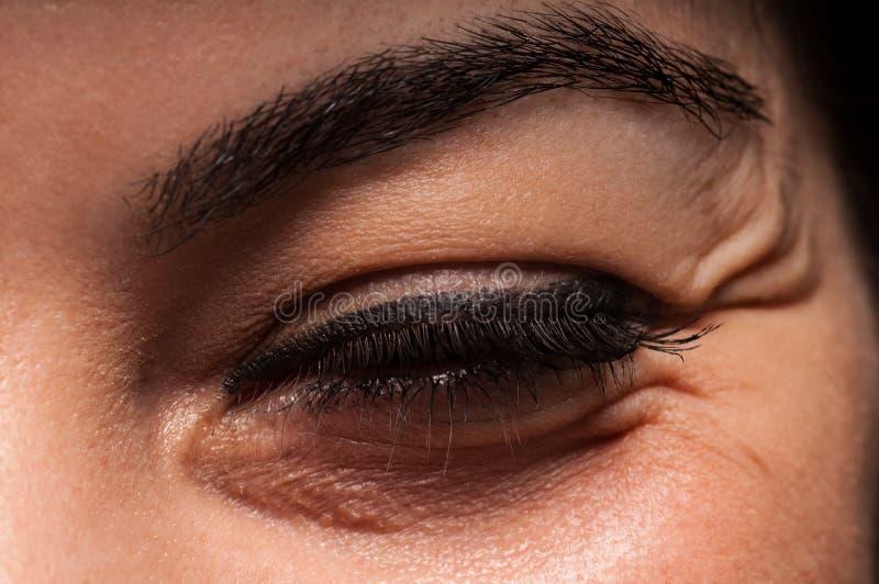 Enrugamentos do olho imagem de stock