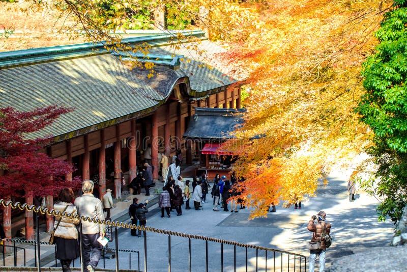 Enryaku-ji è un monastero di Tendai situato sul supporto Hiei a Otsu, fotografia stock