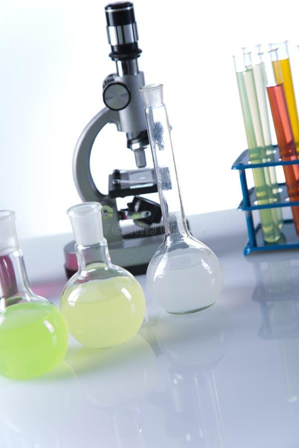 Ensaios clínicos no laboratório imagem de stock