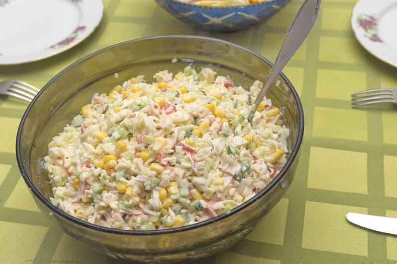Ensalada con arroz foto de archivo