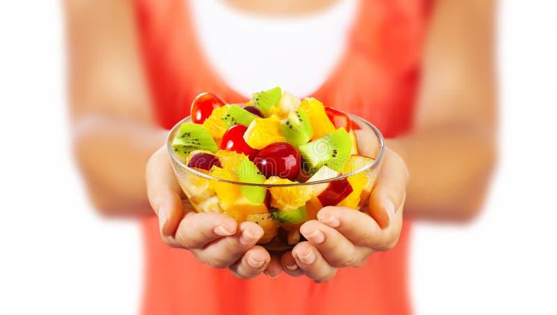 Ensalada de fruta sana fotografía de archivo libre de regalías