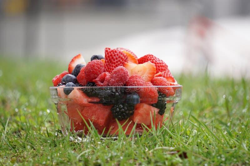 Ensalada de frutas frescas imagenes de archivo