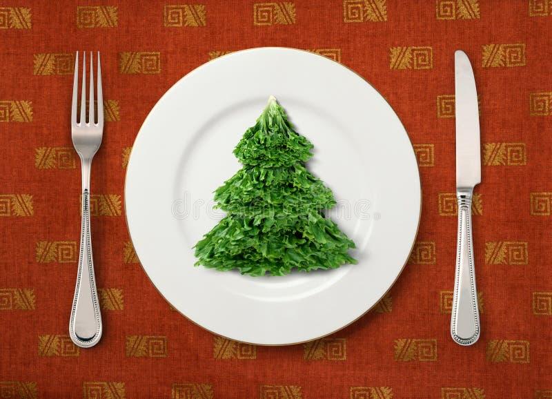 Ensalada de la Navidad foto de archivo