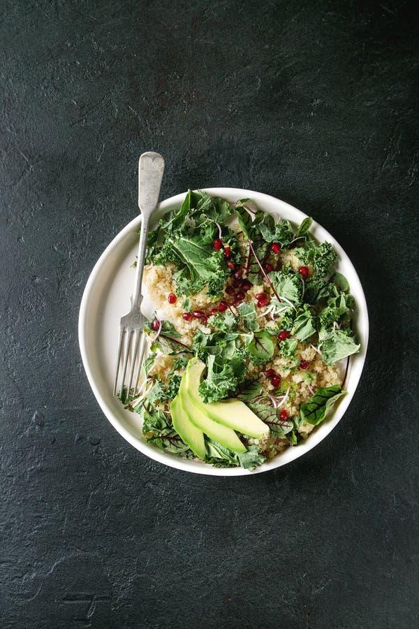 Ensalada de la quinoa con col rizada fotografía de archivo