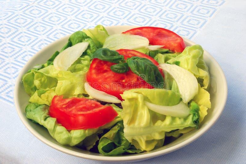 ensalada de la Tomate-lechuga imagenes de archivo