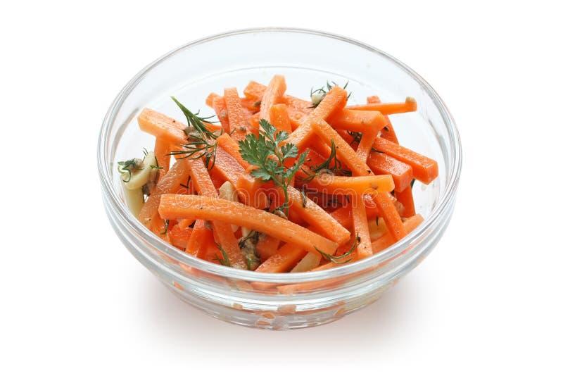 Ensalada de la zanahoria foto de archivo libre de regalías