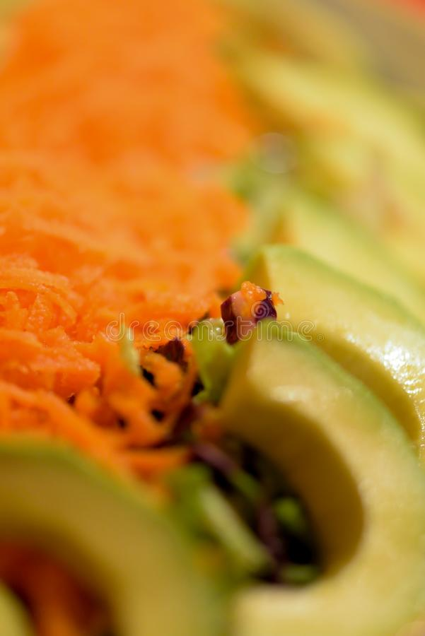 Ensalada de la zanahoria de Avacado fotos de archivo libres de regalías
