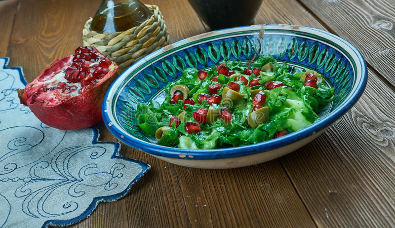 Ensalada de Olive Turkish imagen de archivo libre de regalías