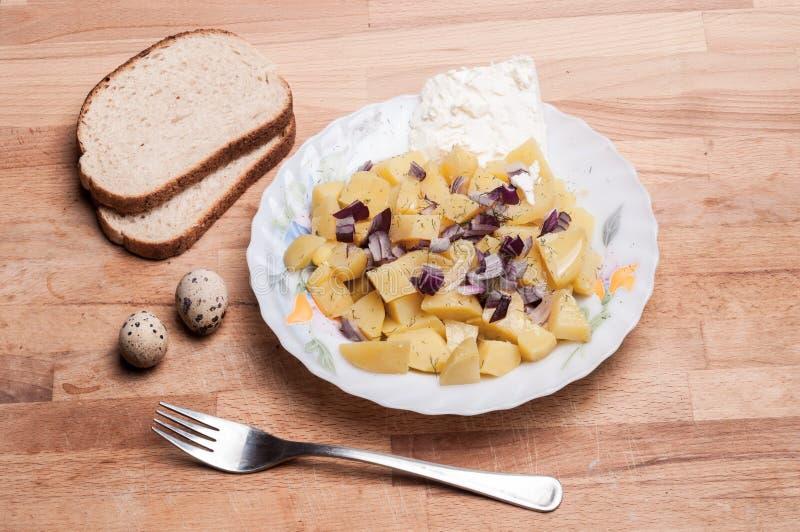 Ensalada de patata alemana tradicional imágenes de archivo libres de regalías