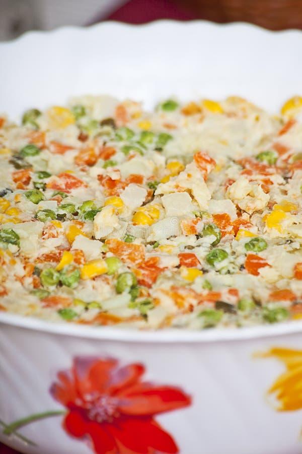 Ensalada de patata con los wegetables foto de archivo libre de regalías