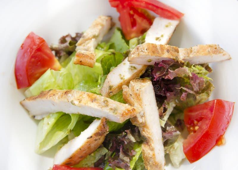 Download Ensalada de pollo foto de archivo. Imagen de eating, cena - 64211200