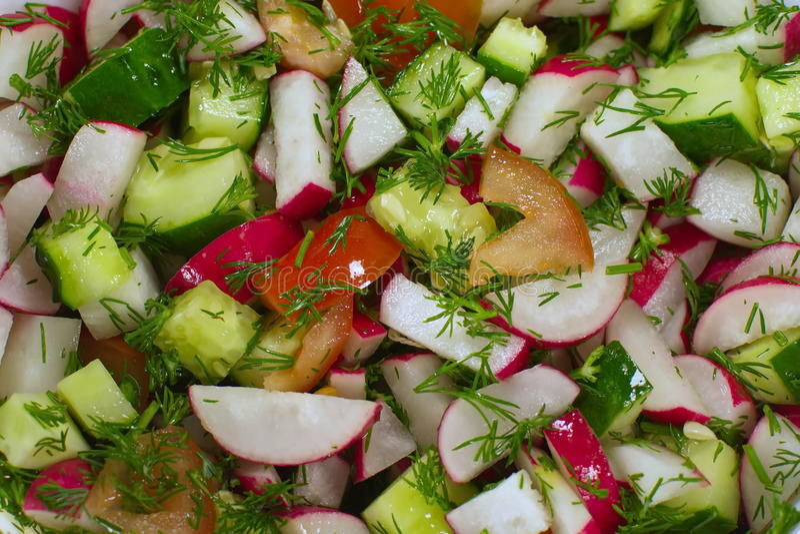 Ensalada de verduras frescas fotos de archivo libres de regalías