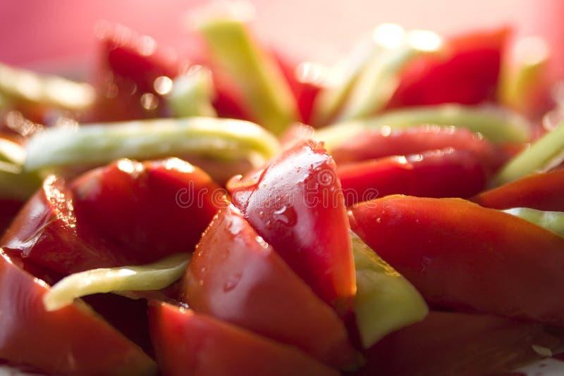 Ensalada del tomate imagenes de archivo