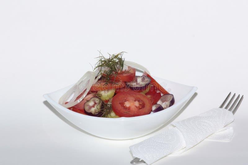 Ensalada del tomate, sabroso y sano imagenes de archivo