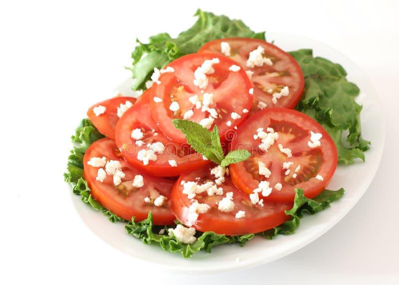 Ensalada del tomate y del queso foto de archivo libre de regalías