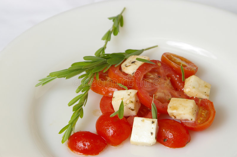 Ensalada fresca 2 del tomate imagenes de archivo