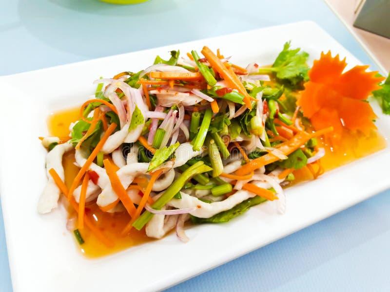 Ensalada picante, comida tailandesa foto de archivo libre de regalías