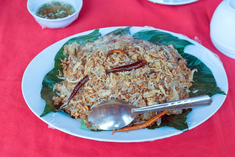 Ensalada picante del pomelo, comida tailandesa foto de archivo