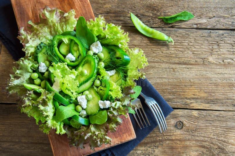 Ensalada vegetal verde imágenes de archivo libres de regalías