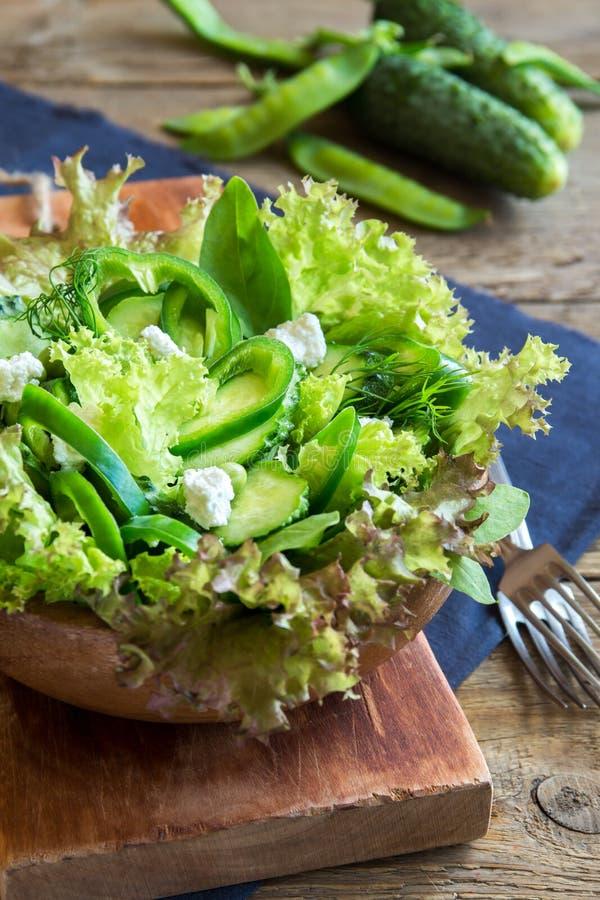 Ensalada vegetal verde foto de archivo libre de regalías