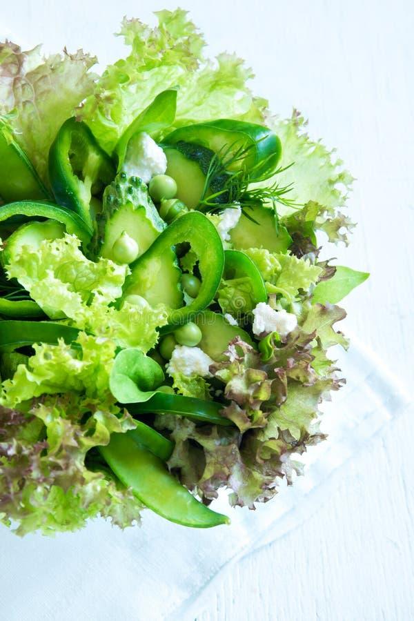 Ensalada vegetal verde fotos de archivo libres de regalías