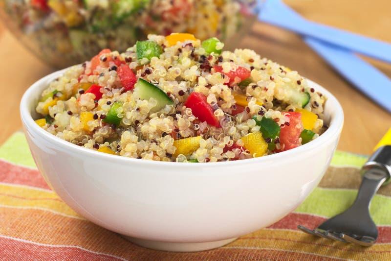 Ensalada vegetariana de la quinoa imágenes de archivo libres de regalías